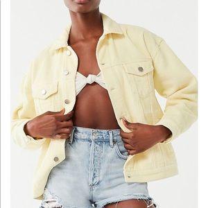 UO BDM Oversized Yellow Corduroy Jacket